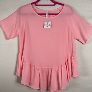 Red Lolly Pink Baby Doll blouse NWT